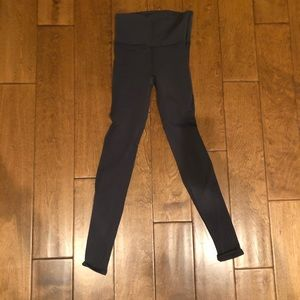 Lululemon dark gray long leggings with detailing